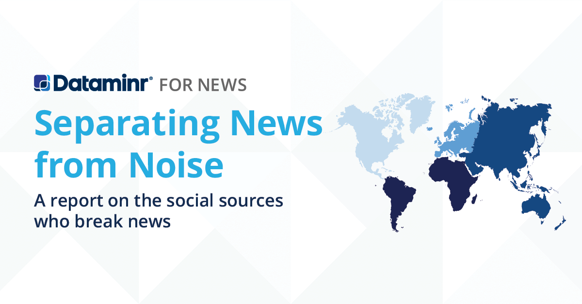 Separating News from Noise: A report on the social sources who break news