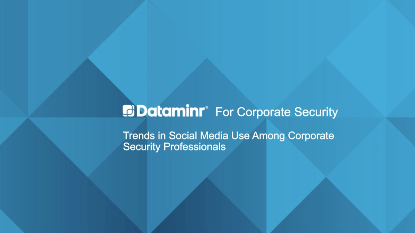 Trends in Social Media Use Among Corporate Security Professionals