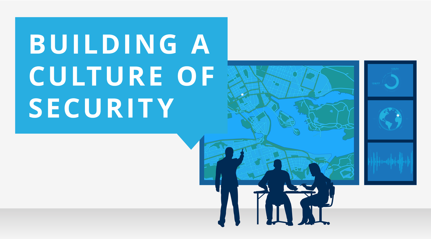 Corporate Security infographic on building a culture of security.