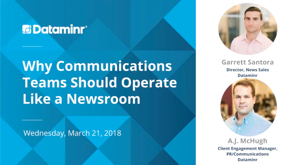 Why Communications Teams Should Operate Like a Newsroom