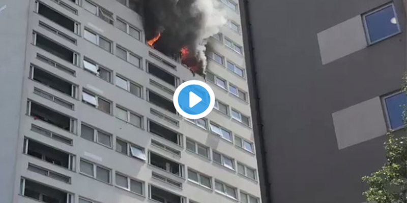 London Tower Fire Video
