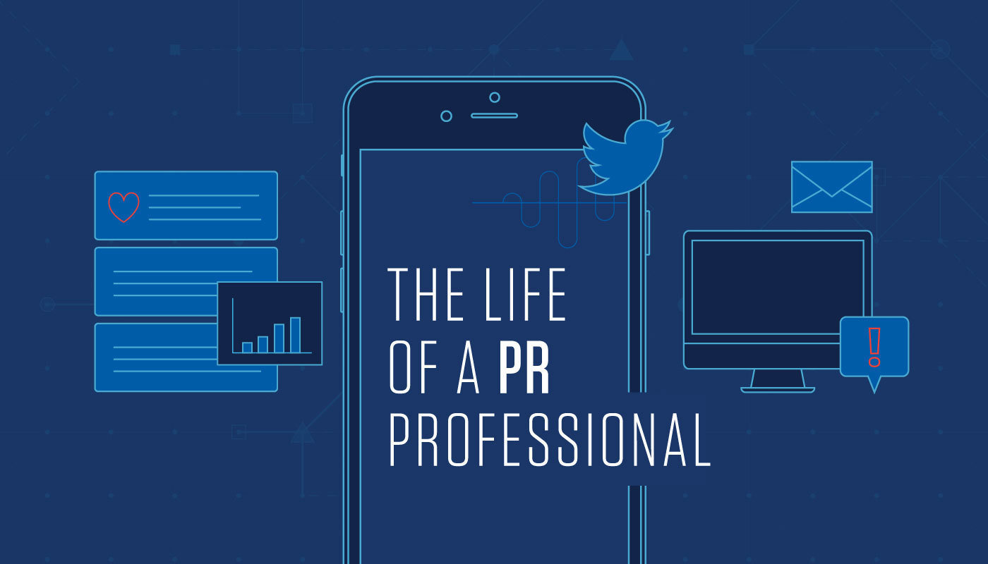 Life of a PR Professional Infographic