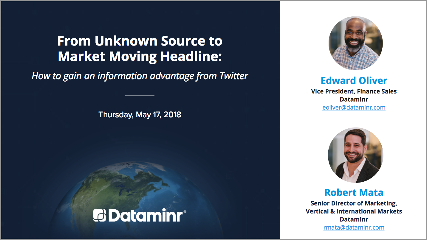 From Unknown Source to Market Moving Headline: How to gain an information advantage from Twitter