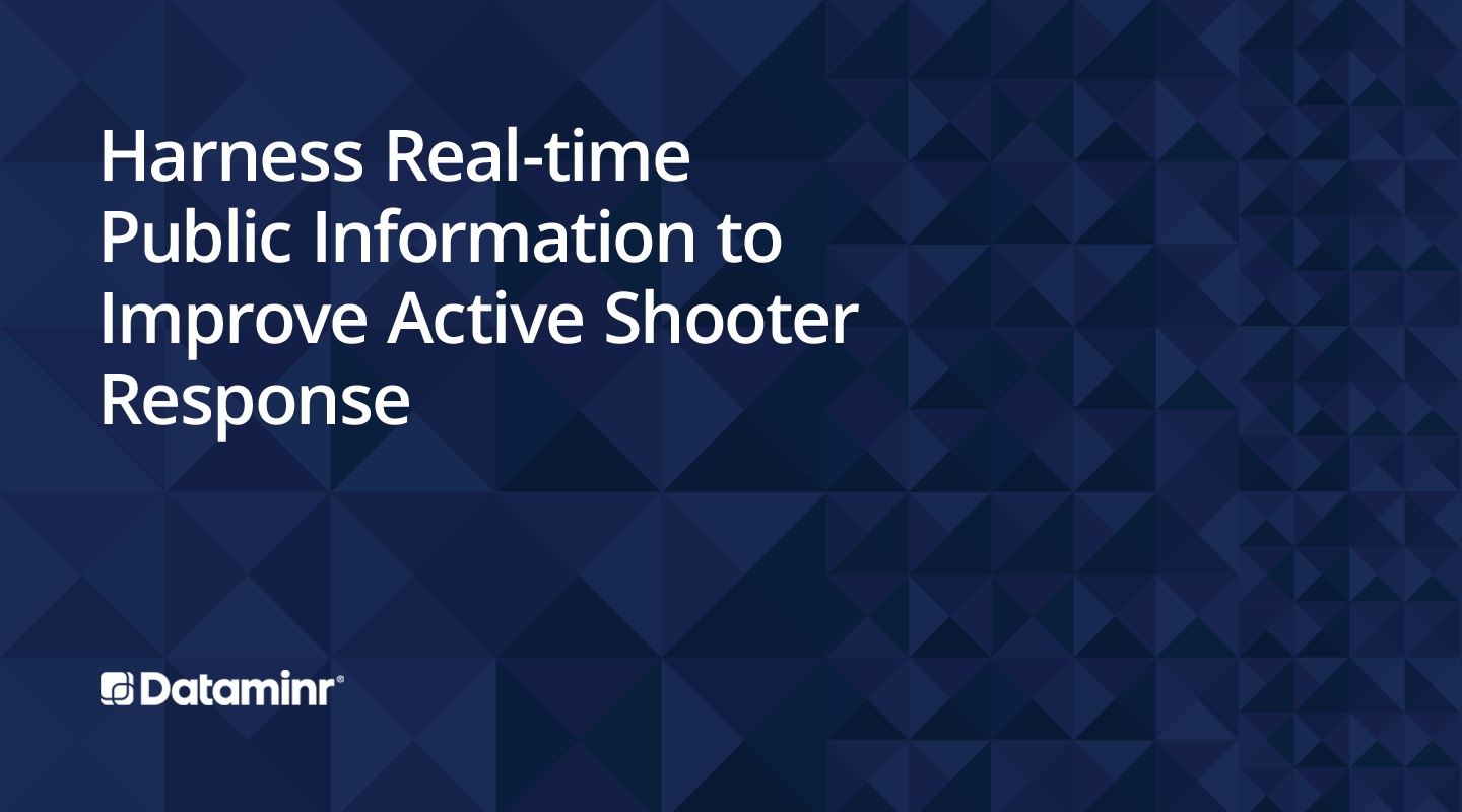 Harness Real-time Public Information to Improve Active Shooter Response