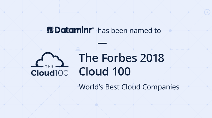 Dataminr named to Forbes Cloud 100