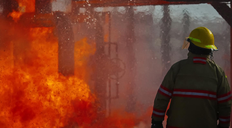 Fireman on the scene in Huelva.