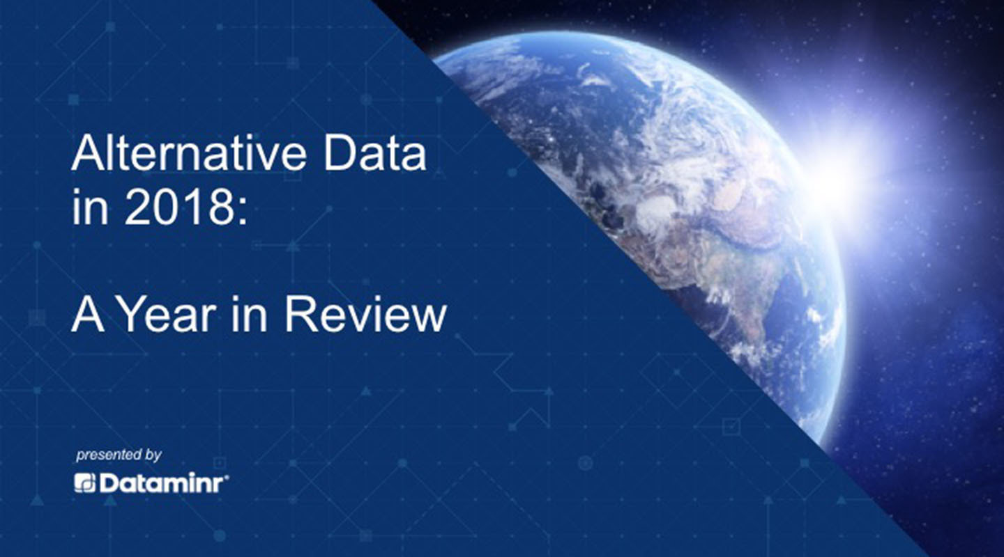 Alternative Data in 2018: A year in Review