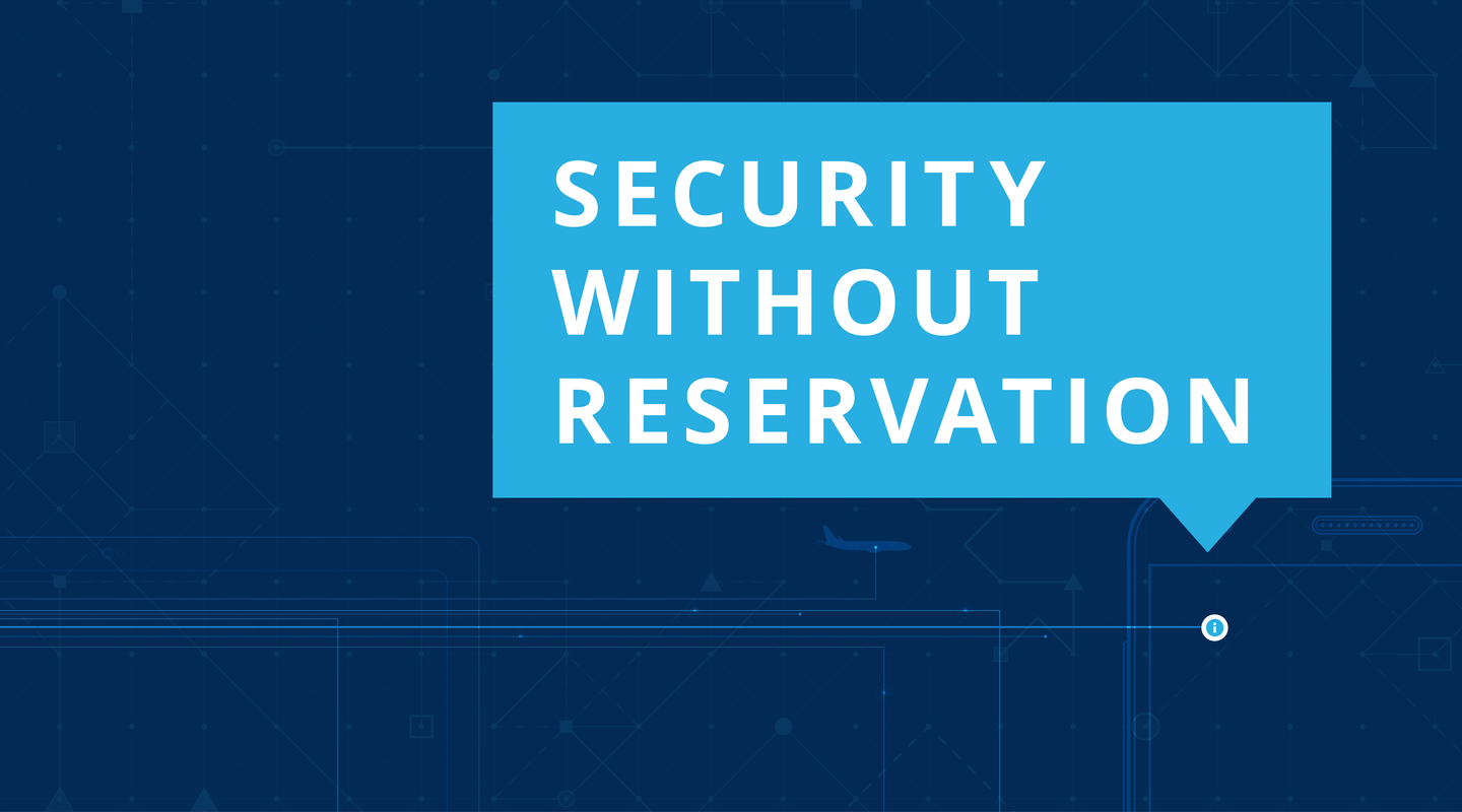 Corporate Security infographic on security without reservation.