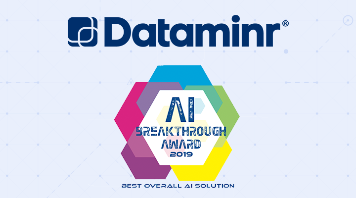 Dataminr 2019 AI Breakthrough Award for Best Overall AI Solution