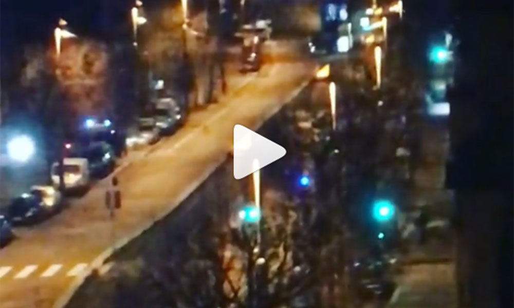 video of closed streets amid police operation on Avenue de Colmar in Strasbourg