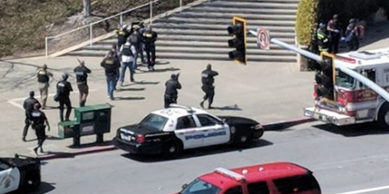 SWAT team enters YouTube Headquarters after shooting