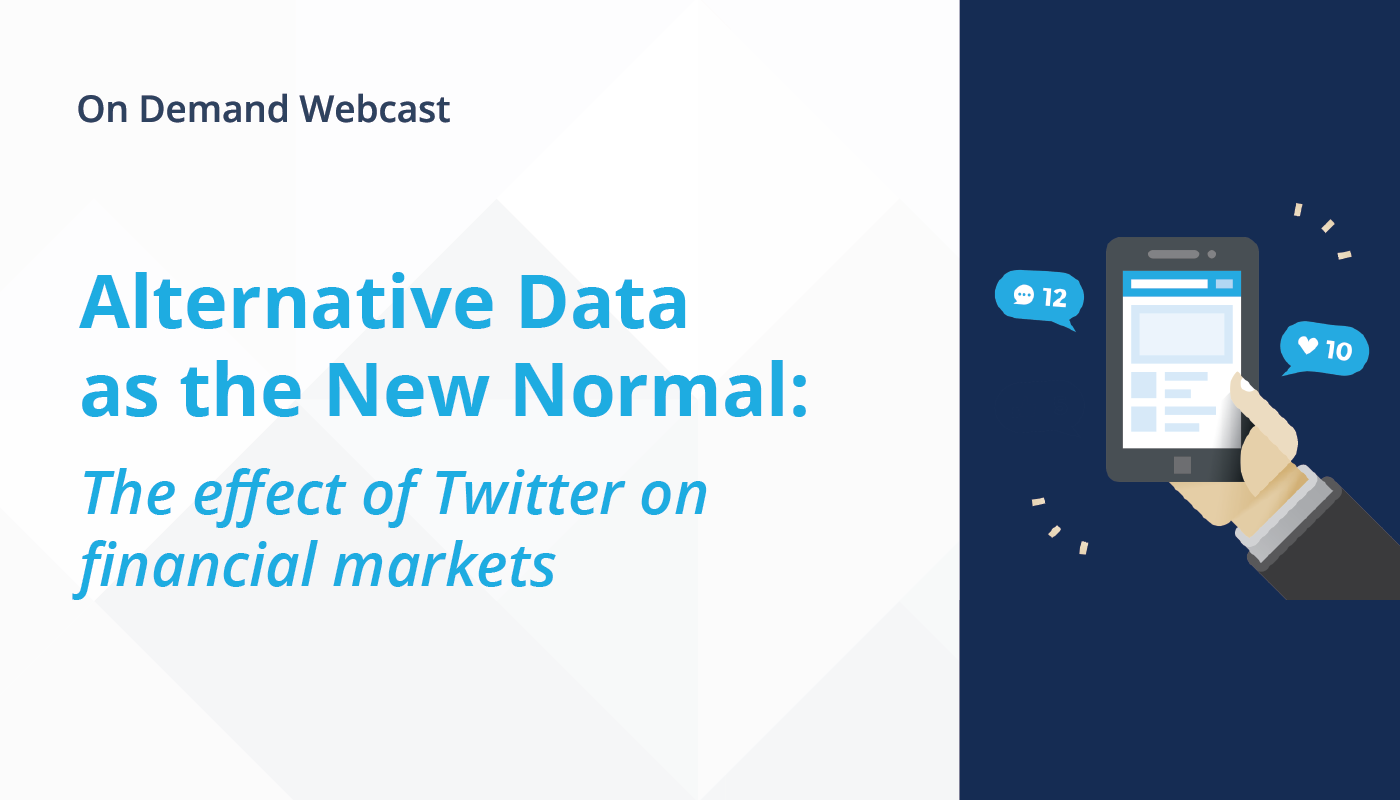 Alternative Data as the New Normal: The effect of Twitter on financial markets