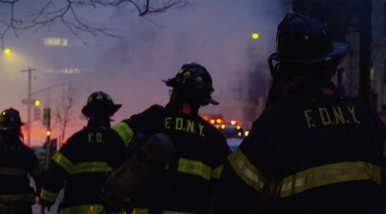 First response, Firemen on the scene in New York.